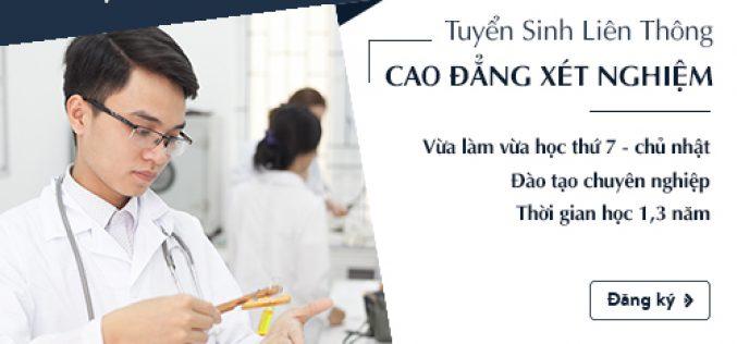 Thời gian đào tạo Liên thông Cao đẳng Xét nghiệm Sài Gòn năm 2018